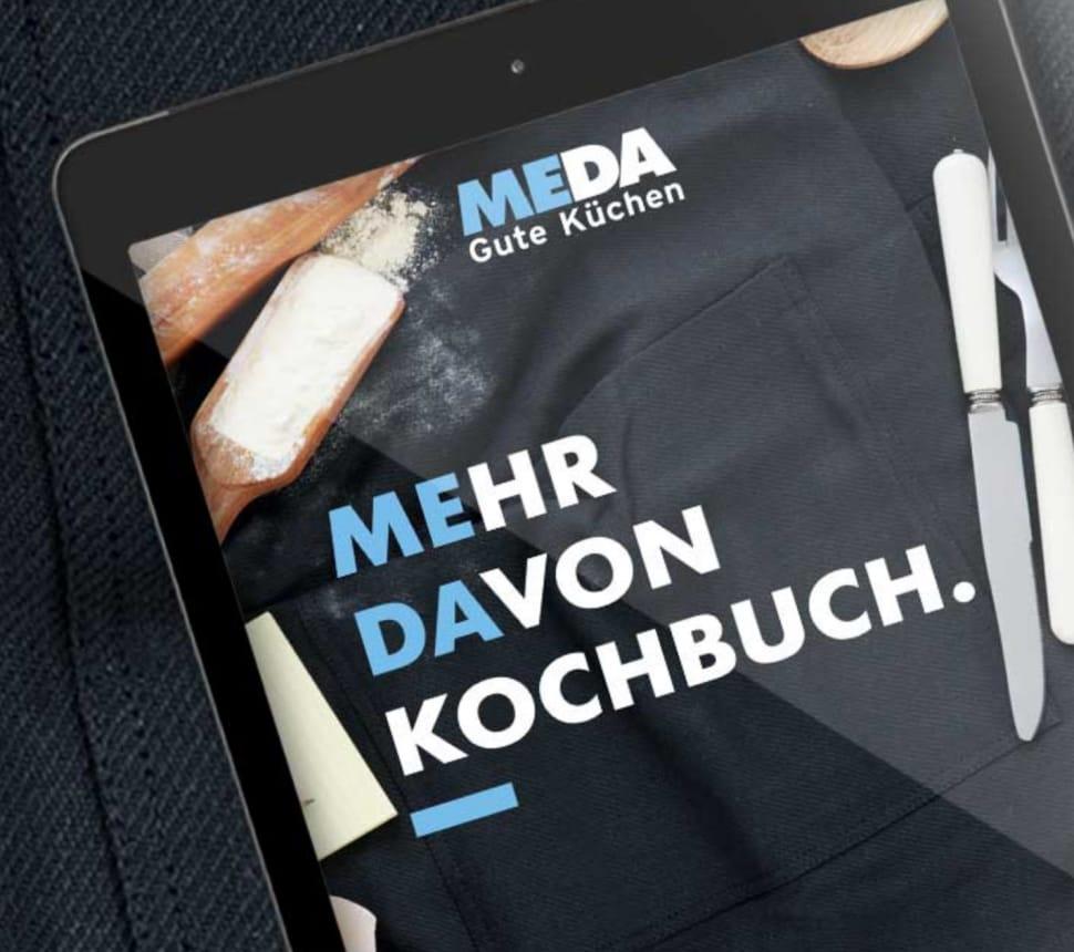 meda kochbuch auf einem ipad
