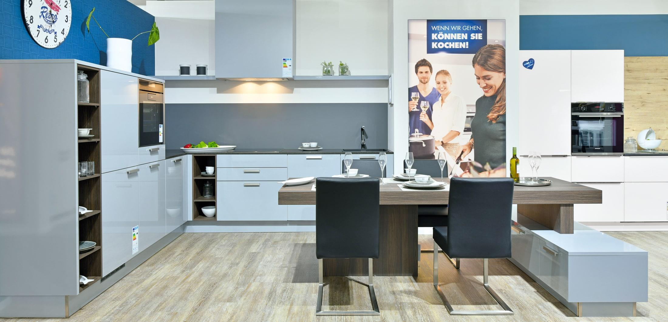 L-Küche bei MEDA im Küchenstudio Bonn