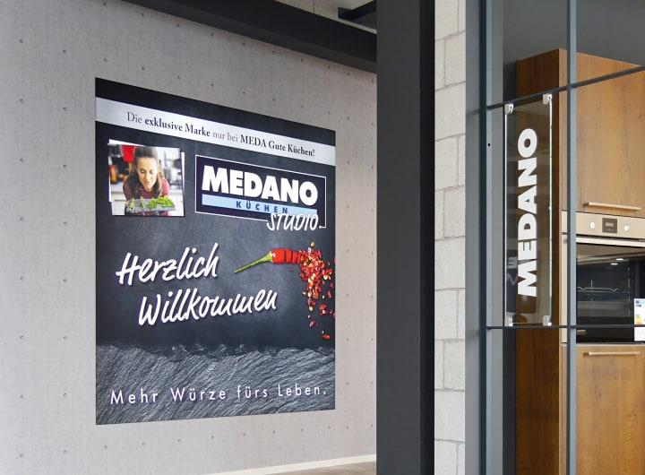 Küchen-Ausstellungsbereich vom Küchenhersteller MEDANO im Küchenstudio Darmstadt