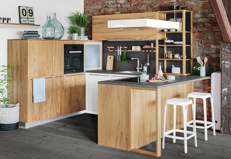holzoberflächen in küche