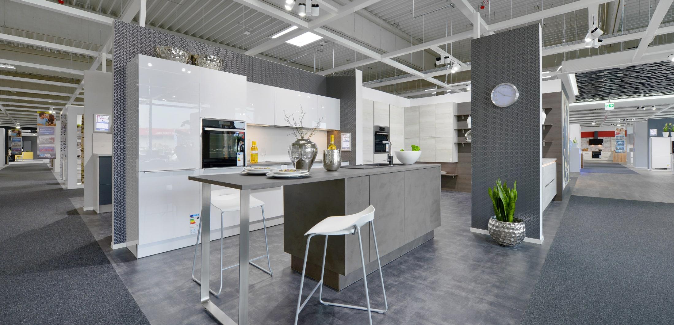Designerküche mit klaren Linien