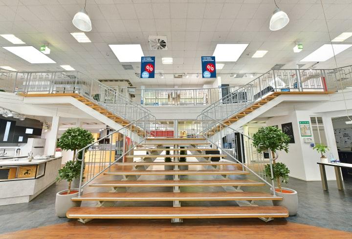 Treppe im Küchenstudio Kaarst.