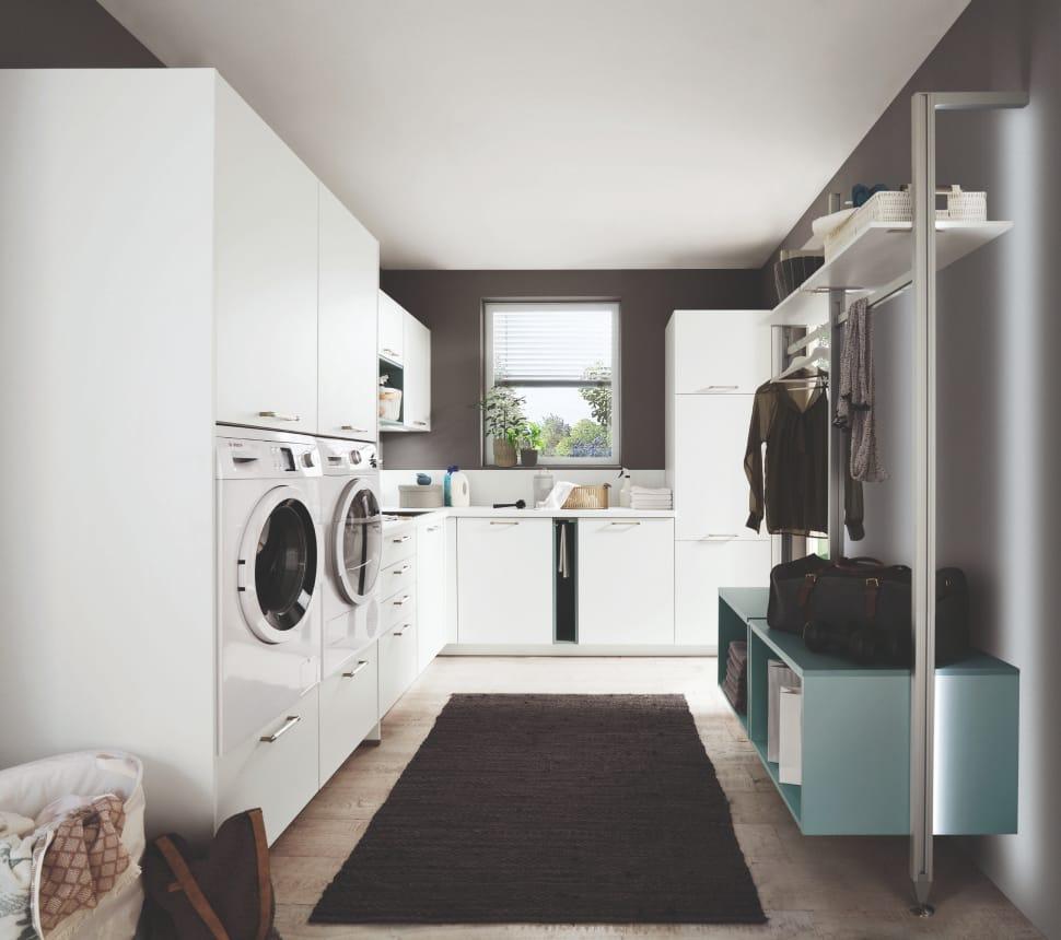 gemütliche Einrichtung Waschmaschine