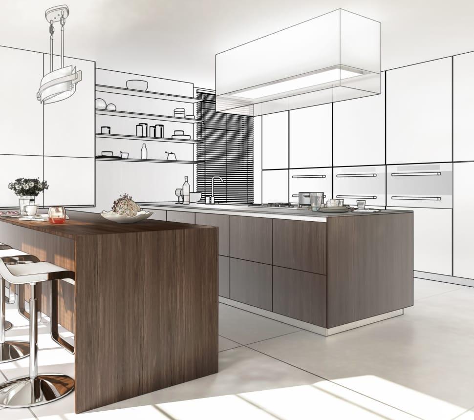 rendering einer küche