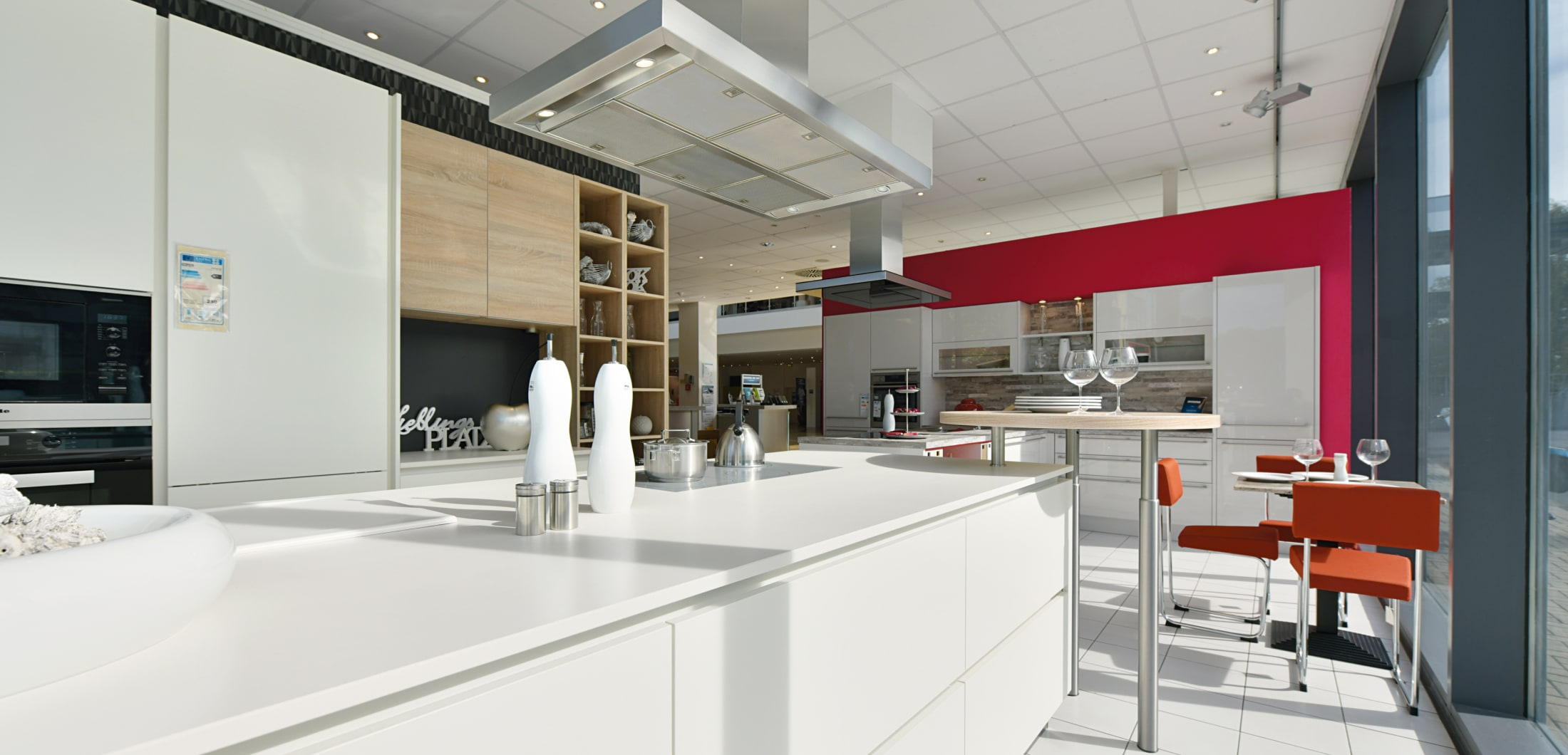 hochwertige weiße Designerküche