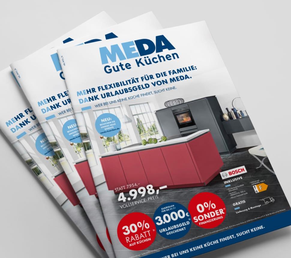 MEDA Prospekt mit Kuecheninsel