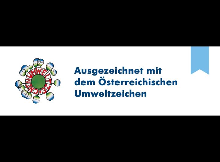 Ausgezeichnet mit dem Österreichischen Umweltzeichen